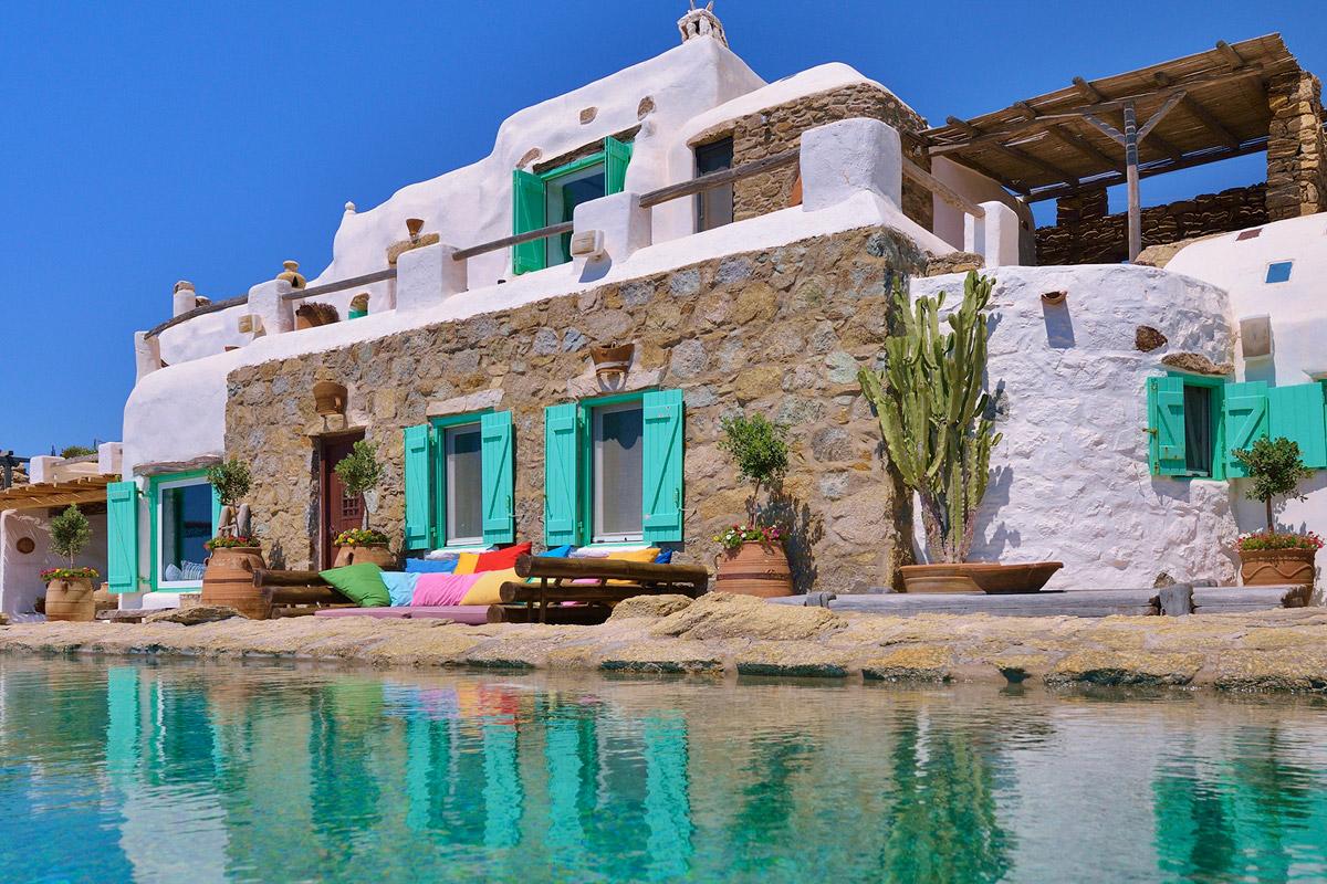 K- Studio designed Villa Mandra in Mykonos, Greece upon