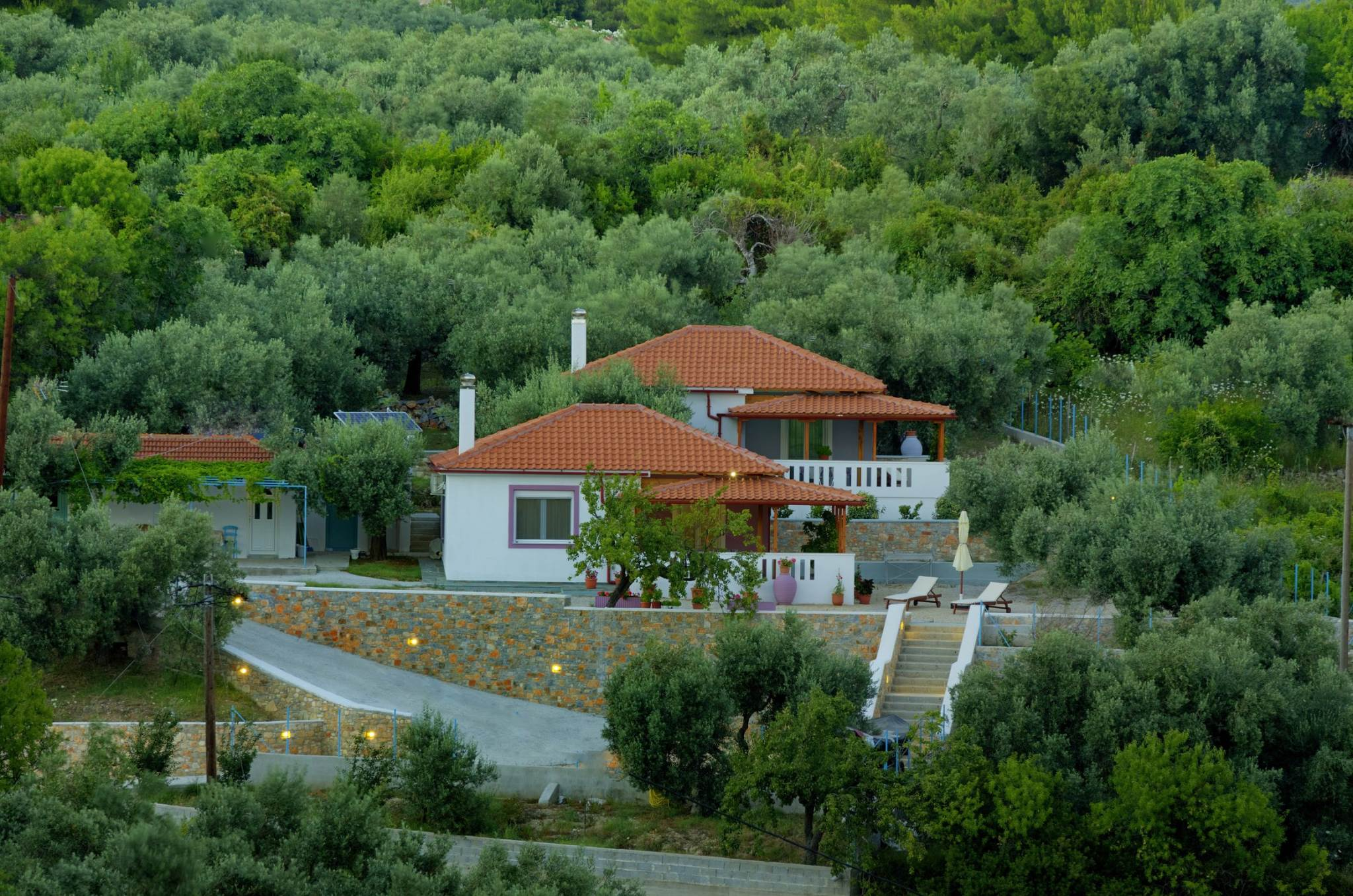 Rural and quite location , but close to amenities of the nearby village Votsi.