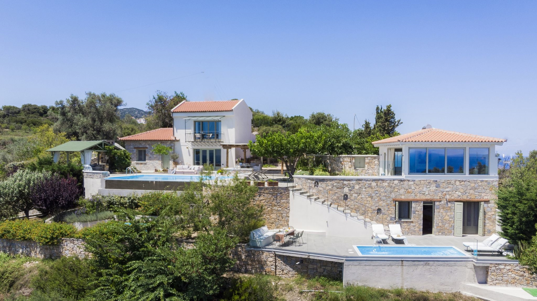 A super luxury secluded villa with heated spa pool, infinity pool with panoramic sea views. Cont...